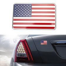 Metal Sticker 3d Car Auto Decal Badge Emblem Adhesive Aluminium Us American Flag Ebay