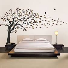 Amazon Com Simple Shapes Blowing Leaves Tree Wall Decals Scheme B Home Kitchen