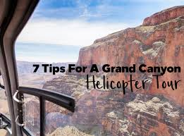 tips for a grand canyon helicopter