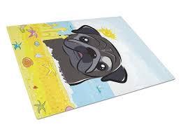 black pug summer beach glass cutting