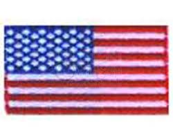 waving american flag embroidered patch