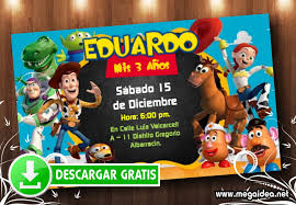 Invitacion Toy Story Editable Gratis Mega Idea