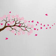 Tree Branch Wall Decal Butterfly Birds Vinyl Sticker Nursery Leaves 1371 Innovativestencils