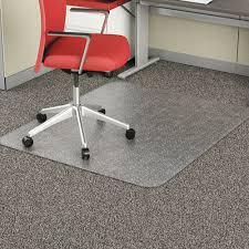studded chair mat for flat pile carpet