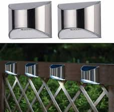 Maplin Solar Powered Wall Fence Outdoor Security White Light Stainless Steel For Sale Ebay