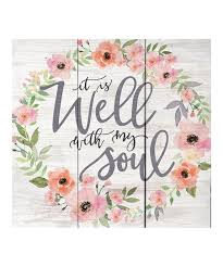 well with my soul pallet wall art