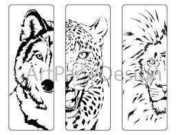 Soloring Pages Animals Wolf Cheetah Lion Coloring Pages Etsy