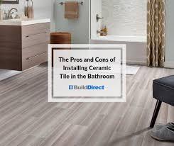 cons of installing ceramic tile