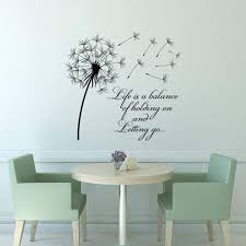 Amazon Com Blake94albert Dandelion Wall Decal Life Is A Balance Holding On Letting Go Inspirational Quotes Wall Art Vinyl Lettering Bedroom Flower Decor 521667 Home Kitchen