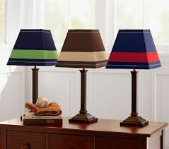Rugby Stripe Shade Mason Touch Lamp Base Pottery Barn Kids Pottery Barn Kids Touch Lamp Lamp Bases