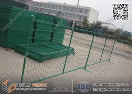 6ft Green Color Temporary Fencing For Construction Sites Highly Visible Powder Coat Color