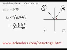 solving simple trig equation in