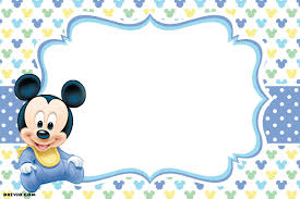 Mickey Mouse 1st Birthday Invitations Invitacion De Mickey Mouse