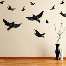 Flying Birds Decal Animal Wall Decal Murals Primedecals