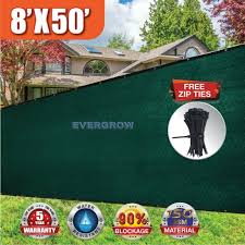 Evergrow 8x50 150 Gsm Privacy Fence Screen With Brass Grommets Black For Sale Online Ebay