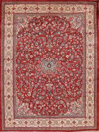 antique fl sarouk persian rust red