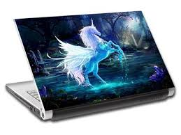 Fantasy Unicorn Personalized Laptop Skin Vinyl Decal Sticker With Your Name L73 Ebay