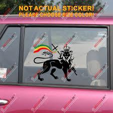 Lion Of Judah Decal Sticker Car Vinyl Rasta Rastafari Flag Jamaica Ethiopia Car Stickers Aliexpress