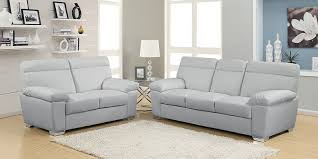 grey leather sofa set new design 2018