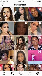 makeup artist using insram