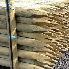 Full Round Pointed Posts Fence Supplies Buy Online Uk Delivery