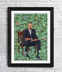 Poster Barack Obama Kehinde Wiley Art Works The Obama Portrai Art Print Photo Paper Wall Art Picture Painting 12 24 36 47 Inches Painting Calligraphy Aliexpress