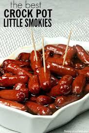 bbq little smokies crock pot