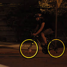 Reflective Bicycle Wheel Stickers In Black Fiks Reflective