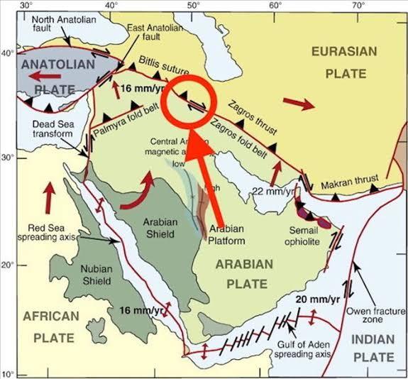 iran deprem fay hattı ile ilgili görsel sonucu