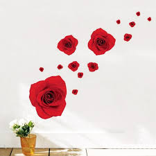 New Home Decoration Art Vinyl Mural Wall Sticker Decal Red Rose Flowers Butterfly Decal Post Inexpensive Wall Decals Inspirational Wall Decals From Samanthaadam1820 7 76 Dhgate Com