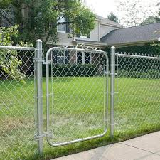 4 Ft H X 2 5 Ft W Galvanized Chain Link Garden Walking Fence Metal Gate Easy Fence Chain Link Fence Gate Fence Design