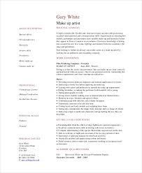 5 makeup artist resume templates pdf