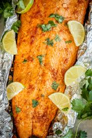 Foil Baked Salmon with Lime and Chili ...