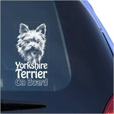 Amazon Com Yorkshire Terrier Clear Vinyl Decal Sticker For Window Yorkie Dog Sign Art Print Arts Crafts Sewing
