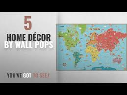 Top 10 Home Decor By Wall Pops Winter 2018 Wall Pops Wpe0624 Kids World Dry Erase Map Decal Youtube