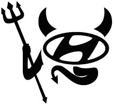 Hyundai Devil Vinyl Sticker