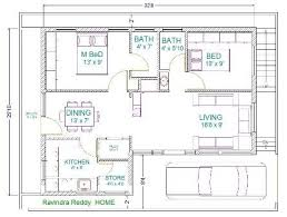 north facing house 2bhk house plan