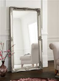 pewter floor standing mirror from