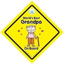 Amazon Com Baby Iwantthatsign Com World S Best Grandpa On Board Decal Bumper Sticker Grandchild Sign Grandparents Car Sign Baby Car Sign Baby Signs Grandad Pops Nanny Grandparent Baby