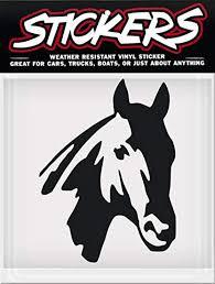 Amazon Com Horse Head Stickers Black Horse Vinyl Window Sticker Decal Car Truck Trailer Weather Resistant Sports Outdoors