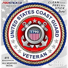 Amazon Com U S Coast Guard 18 Inch Window Strip Uscg Outside Decal Automotive