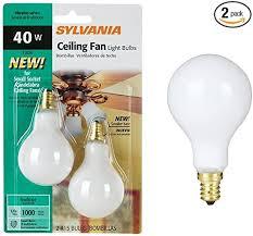 syl ceiling fan bulb 40w size 2ct syl