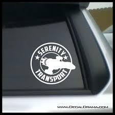 Serenity Transport Company Logo Firefly Inspired Vinyl Car Laptop Deca Decal Drama