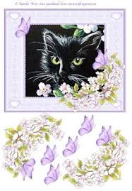 Black Cat and Apple Blossom decoupage by Pamela West: Amazon.co.uk: Kitchen  & Home
