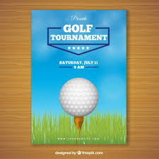 golf tournament poster with ball in
