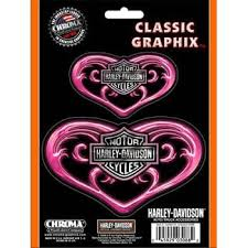 Pink Heart Harley Davidson Decal Harley Davidson Decals Pink Car Accessories Harley Davidson