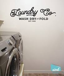 Amazon Com Laundry Co Wash Dry And Fold Vinyl Decal Wall Art Decor Sticker Laundry Room Vintage Antique Sign Lettering Handmade