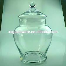 glass apothecary jar with metal lid