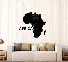 Amazon Com Vinyl Wall Decal Continent Africa African Native Map Stickers Large Decor 3318ig Black Arts Crafts Sewing