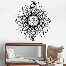 Vinyl Wall Decal Sun Moon Stars Dream Children S Room Decor Stickers 1195ig Ebay